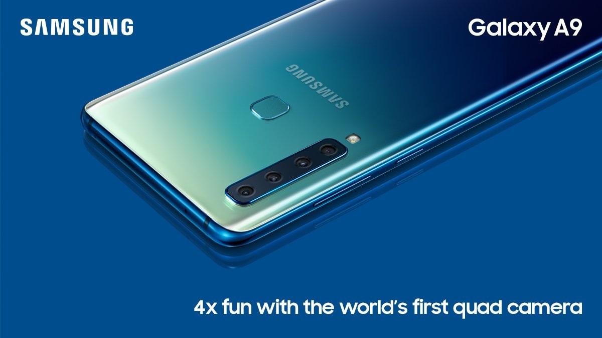 Samsung Galaxy A9 modeli ile dünyanın ilk 4 arka kameralı telefonunuduyurdu