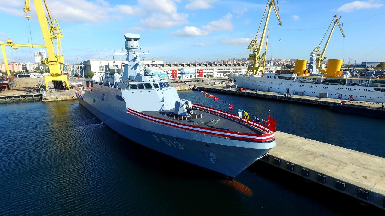 Milgem Projesi Dahilindeki Üçüncü Gemi F-513 TCG Burgazada HizmeteGirdi!