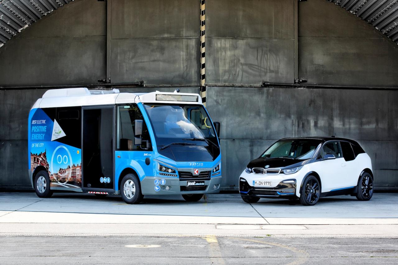 Karsan Jest Bus - BMW i3 Maisach, am 24.07.2018